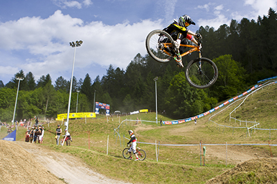during day 2 of Round 2 of the UCI mountain Bike world Cup